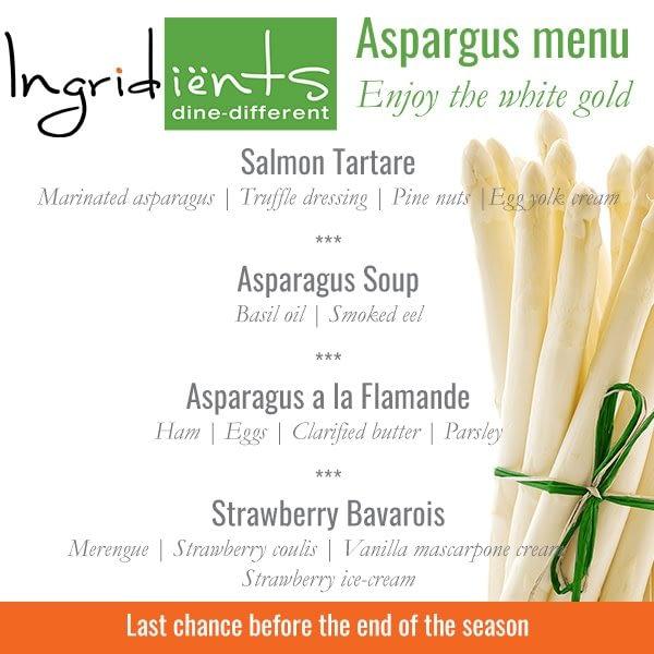 asperge menu at Ingri