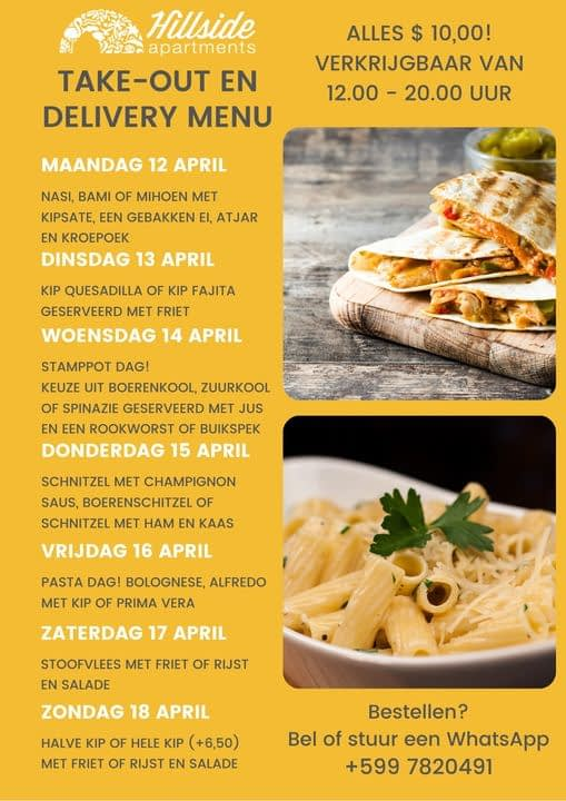 specials take out bonaire
